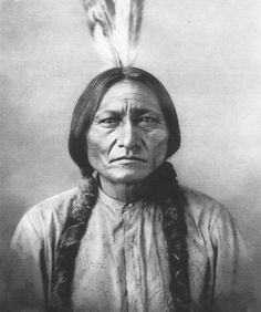 Sitting bull of the North Dakota Tribe that defeated General Custer with superior military planning and tactics