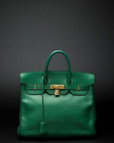 Hermès green Birkin