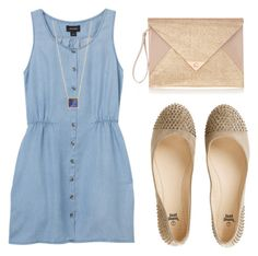 """""""Untitled #79"""" by annfloyd ❤ liked on Polyvore featuring Monki, Jennifer Meyer Jewelry and Oasis"""