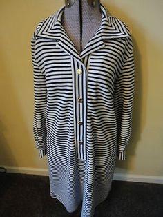 Vintage Miami Chic Mod 60-70's Americana Knit Miami Dress Navy White Stripe Long Sleeve 16/17 $24.99 Love!  http://cgi.ebay.com/ws/eBayISAPI.dll?ViewItem=290775239612=STRK:MESE:IT