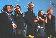 Luciano Pavarotti, James Brown, Zucchero, Andrea Bocelli, Elisa and Sting
