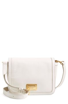 This classic, white Marc Jacobs crossbody bag will make a fabulous addition to the collection.