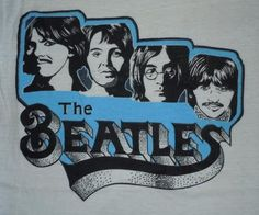 Another early 70s Beatles tee. This one with a great cartoon print graphic. Very scarce and in wonderful condition.