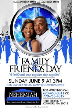 family and friends day flyer church ministry ideas pinterest