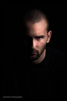 Portrait in black backround #portrait #blackbackround