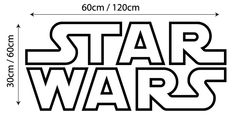 Star wars logo large wall sticker decal graphic mural living room children home. £12.99, via Etsy.