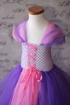 Rapunzel (Tangled) Disney Princess Dress-up Halloween Costume Disney Photo Prop Children Toddler Infant Custom Croche