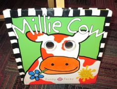 MILLIE COW, TOUCH & FEEL, LIGHTS & SOUND BOARD BOOK BY FUNNY FACES, GREAT READ