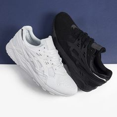 Available Now. ASICS Gel Kayano Trainer  Triple Black > http://thesolesupplier.co.uk/products/asics-gel-kayano-triple-black-2/ Triple White > http://thesolesupplier.co.uk/products/asics-gel-kayano-triple-white/