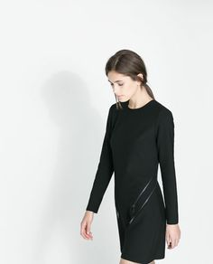 ZARA - NEW THIS WEEK - DRESS WITH ZIPS
