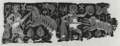 Wall Hanging or Curtain Fragment with Hunt Scene    Egypt, 6th-7th century (Early Byzantine)     wool, linen    The Walters Art Museum