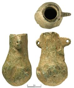 Medieval Pigment Pot. Medieval copper alloy miniature vessel. (Early) Medieval. Used to hold small quantaties of stuff, like oil or pigment.