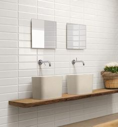 Stacked Subway Tile Modern Bathroom By Stacked White Subway Tile . Neutral Bathroom Tile, White Subway Tile Bathroom, Best Bathroom Tiles, White Subway Tile Backsplash, Bathroom Tile Designs, Bathroom Flooring, Bathroom Wall, Shower Bathroom, Bathroom Ideas