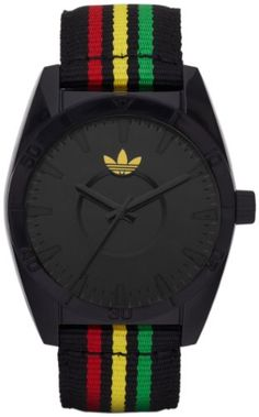 Shop for Adidas Men's 'Rasta Black Nylon Black Dial Quartz Watch. Get free delivery On EVERYTHING* Overstock - Your Online Watches Store! Sport Watches, Watches For Men, Stylish Watches, Wrist Watches, Adidas Watch, Summer Accessories, Tk Maxx, Black Nylons, Boyfriend Gifts