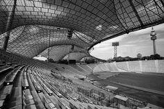 Munich Olympic Stadium (Olympiastadion), Olympiapark München, 1972 | Atelier Frei Otto Warmbronn, Gunther Behnisch