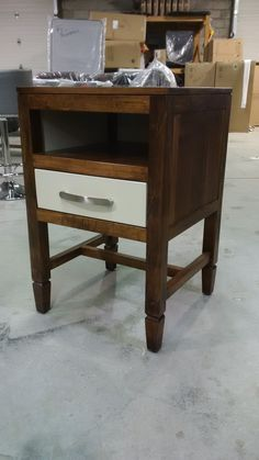 custom two toned nightstand
