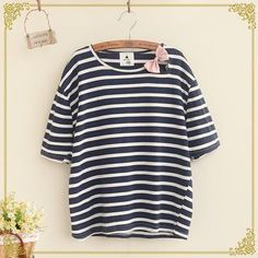 Buy Fairyland Bow Accent Striped Short Sleeve T-Shirt at YesStyle.com! Quality products at remarkable prices. FREE WORLDWIDE SHIPPING on orders over US$35.