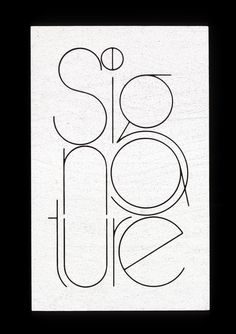 One of the exploratory designs for a logo for Signature magazine, published for members of the Diners Club. 1970  The dot over the 'i' is the simplified Diners Club logo.