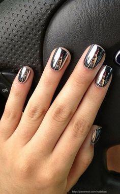 No Place Like Chrome - Cool-Girl Chrome Nail Inspo - Photos