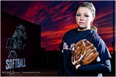 Ideas for Hannah's Softball Photo Shoot