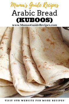 Arabic Bread (Kuboos) - Mama's Guide Recipes Arabic Flatbread Recipe, Flatbread Recipes, Dough Recipe, Kabsa Recipe, Arabic Dessert, Arabic Food, Arabic Sweets, Easy Cooking, Kitchens