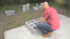 DIY Network: How To Build a Block Garden Wall with Quikrete® Garden Furniture, Outdoor Furniture Sets, Outdoor Decor, Outdoor Ideas, Cinder Block Bench, Diy Network, Patio, Building, Wall