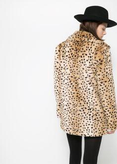 #Mango #Leopard #fauxfur #coat