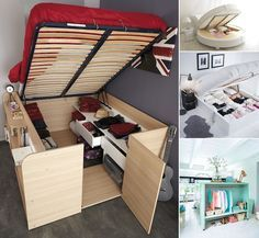 13 Clever Ideas to Use Bedroom Furniture for Storage - http://www.amazinginteriordesign.com/13-clever-ideas-use-bedroom-furniture-storage/