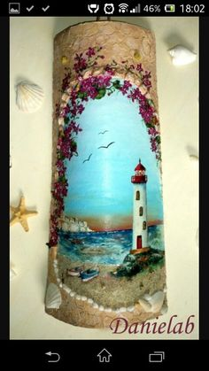 Decoupage On Canvas, Decoupage Plates, Wine Bottle Crafts, Bottle Art, Creative Crafts, Diy And Crafts, Solar Projects, Roof Tiles, Rock Art