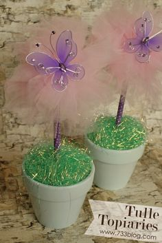 DIY Tulle Topiaries - seven thirty three