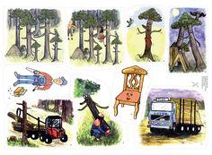 Pedagogisk skogssaga om livet som en tall. Sagan berättar om kretsloppet och att vi ska vara rädda om naturen. Skogen är viktig för oss människor och djur