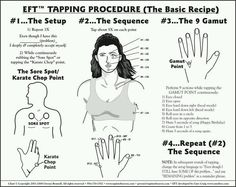 EFT tapping procedure  http://www.alternativebalance.net/EFT_Emotional-Freedom_TechniquesInsurance