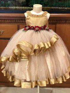 Princess dress / pink dress / couture kids /birthday dress / baby girl/ first birthday - Salvabrani Kids Party Wear Dresses, Kids Dress Wear, Baby Girl Party Dresses, Kids Gown, Toddler Girl Dresses, Little Girl Dresses, Girls Dresses, Flower Girl Dresses, Pink Dress