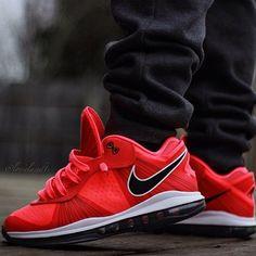 "Nike LeBron 8 v.2 Low ""Solar Red"""