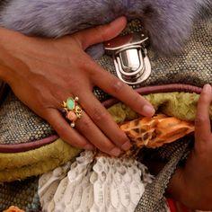 www.vabella.nl python bag fur, golden ring, fish leather, mix