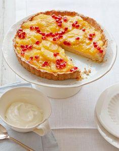 Orangen-Granatapfel-Tarte - Rezepte: Kuchen mit Orange - [ESSEN UND TRINKEN]