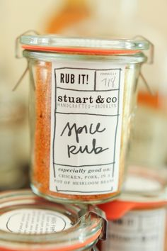 Printable labels for spice mixes that you can give as gifts.