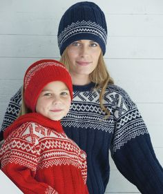 Childs Sweater & Hat In Norwegian Style pattern