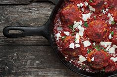Baked Meatballs and Tomato Sauce - Seasons and Suppers