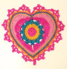 Ristiin rastiin: Kaavio isompaan Valentine-sydämeen