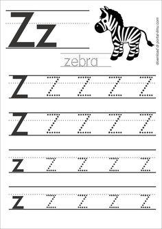z Grade R Worksheets, Printable Alphabet Worksheets, English Worksheets For Kindergarten, Letter Worksheets For Preschool, Preschool Writing, Preschool Letters, Writing Worksheets, Preschool Learning, Tracing Letters