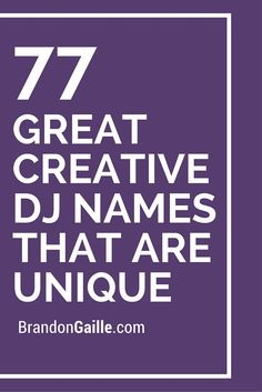 how to choose a good dj name