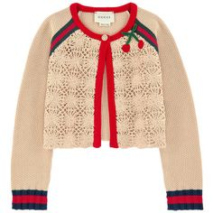 Shop for Crochet knit cardigan by Gucci at ShopStyle. Knitwear Fashion, Crochet Fashion, Gucci, Crochet Clothes, Diy Clothes, Romantic Outfit, Streetwear, Girls Sweaters, Mode Inspiration