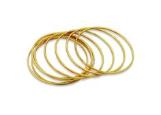 Plain Golden Bangles for daily wear, Can be used as pairs or sets Daily Wear, Bangles, Pairs, Jewels, Gold, How To Wear, Stuff To Buy, Bracelets, Bijoux