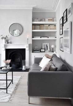 Home Renovation Design My soft, minimalist living-room makeover – the reveal House Minimalist, Minimalist Home Decor, Minimalist Interior, Minimalist Bedroom, Minimalist Kitchen, Minimalist Room Design, Modern Minimalist Living Room, Living Room Grey, Living Room Modern