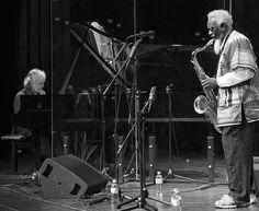 """#JFB50 Pharoah Sanders war der Solist im Konzert der Don Cherry Big Band am 9. November 1968. Der Pianist der Band war Joachim Kühn. 35 Jahre später, beim Jazzfest Berlin 2013, begegnen sich die beiden Künstler wieder auf der Bühne und bescheren dem Publikum mit """"Gnawa Jazz Voodoo"""" ein Fest. (c) Ali Ghandtschi"""