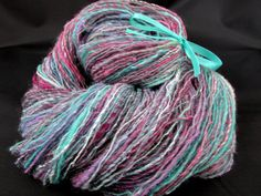 Handspun Yarn Handspun Hand Dyed Gradient Art Yarn  Lace Weight von PastoralWool