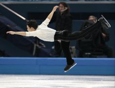 DAY 8:  Denis Ten of Kazakhstan competes during the Figure Skating Men's Free Skate http://sports.yahoo.com/olympics