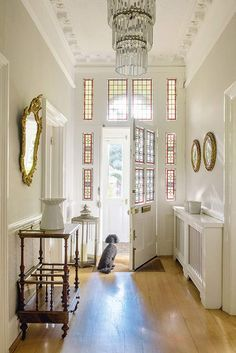 stain glass hallway windows in a south London Victorian house