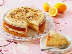Pähkinäinen sitruunakakku No Bake Cake, Camembert Cheese, Cheesecake, Goodies, Candy, Eat, Ethnic Recipes, Desserts, Food